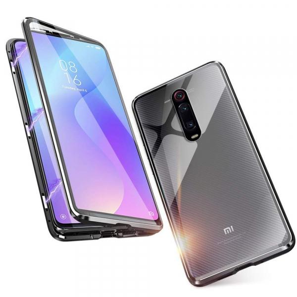 Husa Xiaomi Mi 9T Magnetic Glass 360 (sticla fata + spate), Negru 1