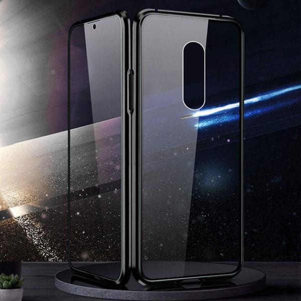Husa Xiaomi Mi 9T Magnetic Glass 360 (sticla fata + spate), Negru 2