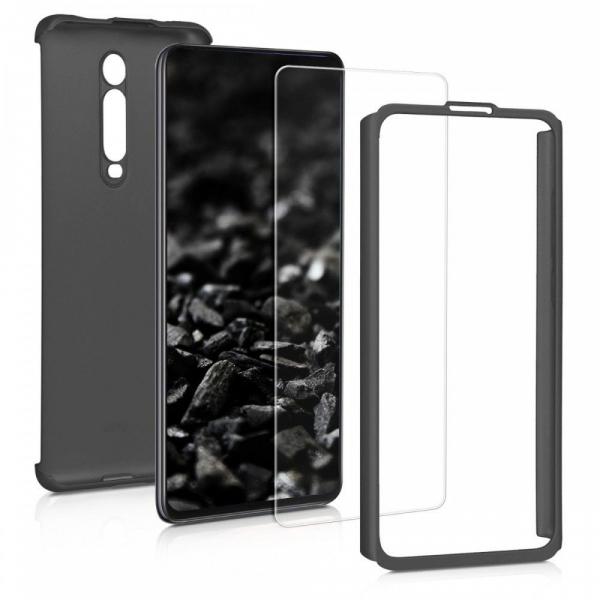 Husa Xiaomi Mi 9T Pro Full Cover 360 + folie sticla, Negru [1]