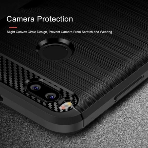 Husa Xiaomi Mi A1 iPaky Fiber, Negru [2]