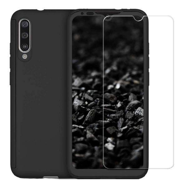 Husa Xiaomi Mi A3 Full Cover 360 + folie sticla, Negru 0