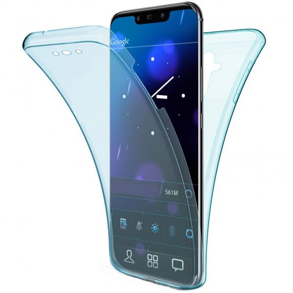 Husa Xiaomi Pocophone F1 Full TPU 360 (fata + spate), Albastru transparent 0