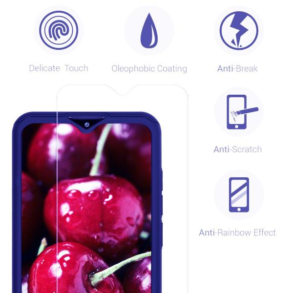 Husa Xiaomi Redmi 8 Full Cover 360 + folie sticla, Albastru 2