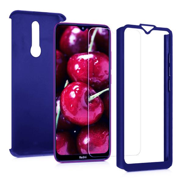 Husa Xiaomi Redmi 8 Full Cover 360 + folie sticla, Albastru 1