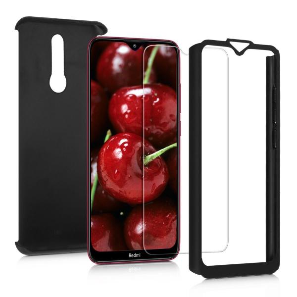 Husa Xiaomi Redmi 8 Full Cover 360 + folie sticla, Negru 1