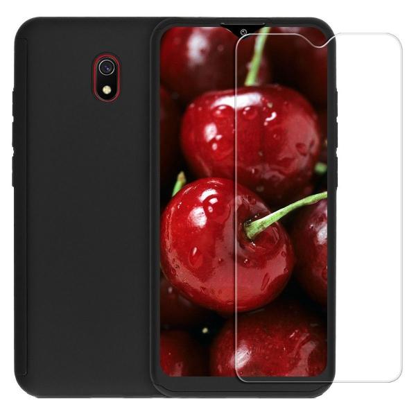Husa Xiaomi Redmi 8A Full Cover 360 + folie sticla, Negru 0
