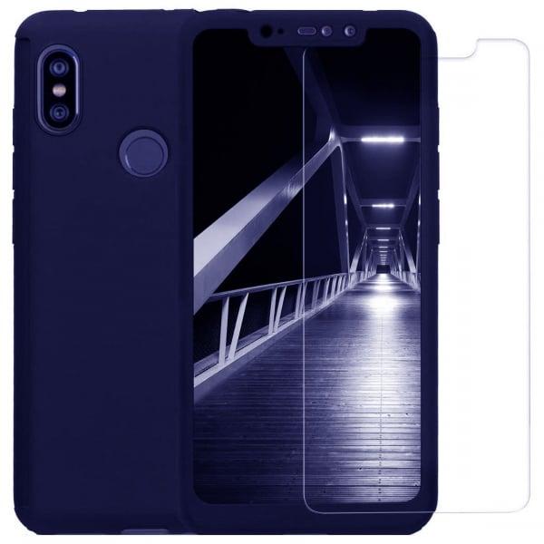 Husa Xiaomi Redmi Note 6 Pro Full Cover 360 + folie sticla, Albastru 0