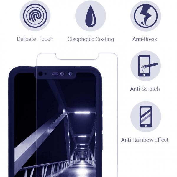 Husa Xiaomi Redmi Note 6 Pro Full Cover 360 + folie sticla, Albastru 3