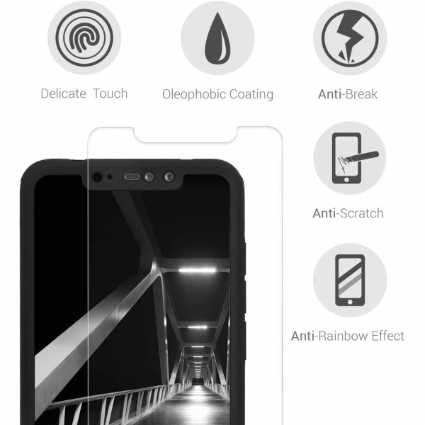 Husa Xiaomi Redmi Note 6 Pro Full Cover 360 + folie sticla, Negru 3