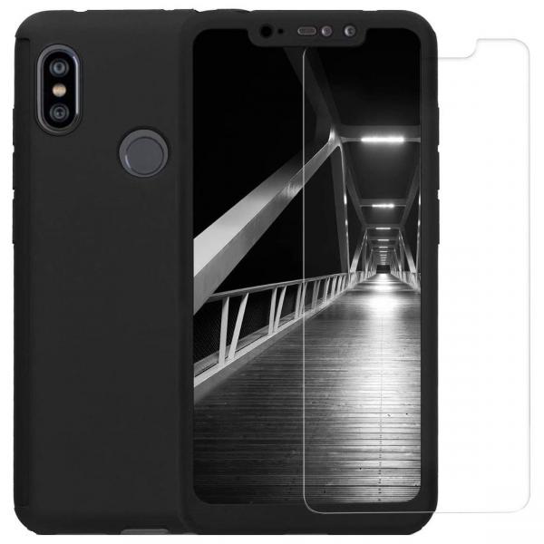 Husa Xiaomi Redmi Note 6 Pro Full Cover 360 + folie sticla, Negru 0