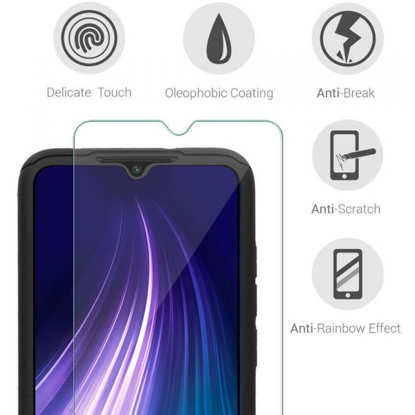 Husa Xiaomi Redmi Note 8 Full Cover 360 + folie sticla, Negru 2