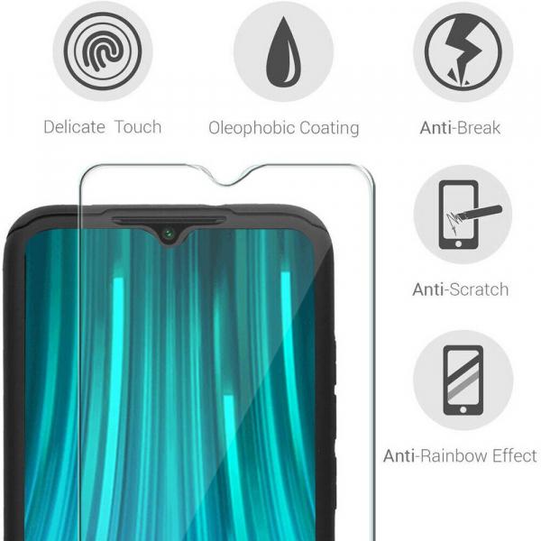 Husa Xiaomi Redmi Note 8 Pro Full Cover 360 + folie sticla, Negru [2]