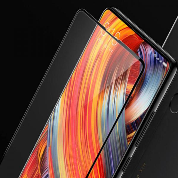 Folie sticla securizata Full Glue pentru Xiaomi Mi Mix 2, Negru 3