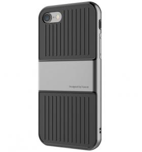 Capac de protectie Baseus Travel Case pentru iPhone 7, Gri1