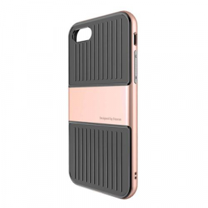 Capac de protectie Baseus Travel Case pentru iPhone 8, Rose Gold1