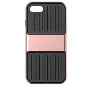 Capac de protectie Baseus Travel Case pentru iPhone 8, Rose Gold0