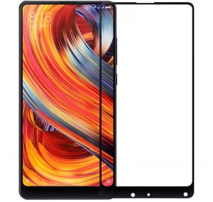 Folie sticla securizata Full Glue pentru Xiaomi Mi Mix 2, Negru0