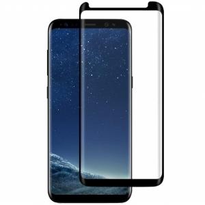 Folie sticla curbata Full Glue Samsung Galaxy S8, Negru0