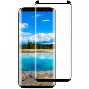 Folie sticla curbata Full Glue Samsung Galaxy S9, Negru [2]
