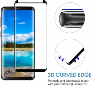 Folie sticla curbata Full Glue Samsung Galaxy S9, Negru [1]