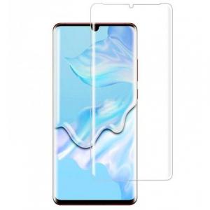 Folie sticla curbata UV Full Glue pentru Huawei P30 Pro, Transparenta0