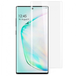 Folie sticla curbata UV Full Glue pentru Samsung Galaxy Note 10 Plus, Transparenta0
