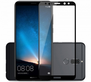 Folie sticla securizata 5D Full Glue Huawei Mate 10 Lite, Negru0