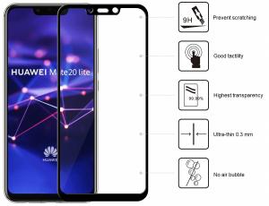 Folie sticla securizata 5D Full Glue Huawei Mate 20 Lite, Negru [1]