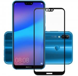 Folie sticla securizata 5D Full Glue Huawei P20 Lite, Negru [0]