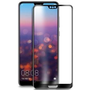 Folie sticla securizata 5D Full Glue Huawei P20, Negru [0]