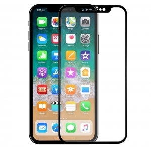 Folie sticla securizata 5D Full Glue iPhone X, Negru0