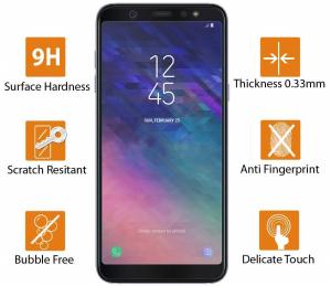 Folie sticla securizata 5D Full Glue Samsung Galaxy A6+ (2018), Negru [2]