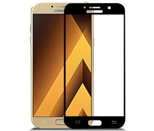 Folie sticla securizata 5D Full Glue Samsung Galaxy A7 (2017), Negru1