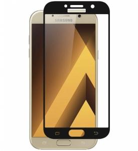Folie sticla securizata 5D Full Glue Samsung Galaxy A7 (2017), Negru0