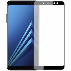Folie sticla securizata 5D Full Glue Samsung Galaxy A8 (2018), Negru0