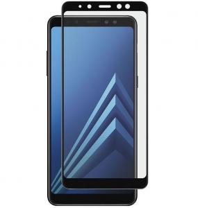 Folie sticla securizata 5D Full Glue Samsung Galaxy A8 (2018), Negru1