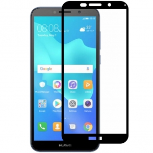 Folie sticla securizata Full Glue Huawei Y5 (2018), Black0