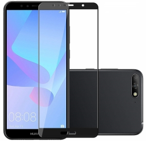 Folie sticla securizata Full Glue Huawei Y6 (2018), Black0
