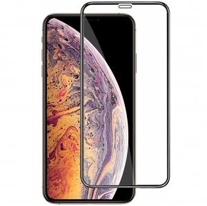 Folie sticla securizata Full Glue pentru iPhone XS Max, Negru0