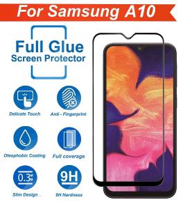 Folie sticla securizata Full Glue pentru Samsung Galaxy A10, Negru2