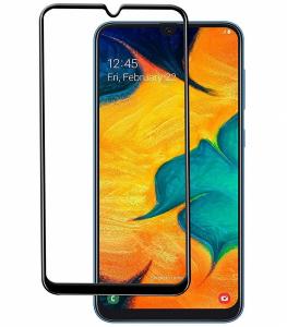 Folie sticla securizata Full Glue pentru Samsung Galaxy A30, Negru0