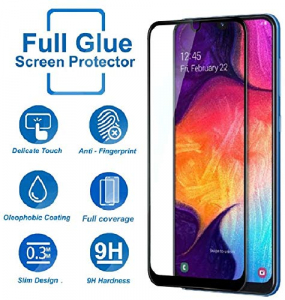 Folie sticla securizata Full Glue pentru Samsung Galaxy A50, Negru2