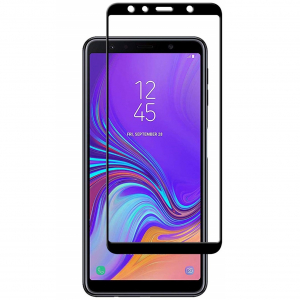 Folie sticla securizata Full Glue pentru Samsung Galaxy A7 (2018), Negru0