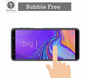 Folie sticla securizata Full Glue pentru Samsung Galaxy A7 (2018), Negru2
