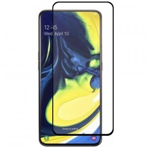 Folie sticla securizata Full Glue pentru Samsung Galaxy A80, Negru [0]