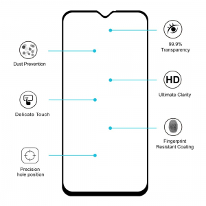 Folie sticla securizata Full Glue pentru Samsung Galaxy M20, Negru1