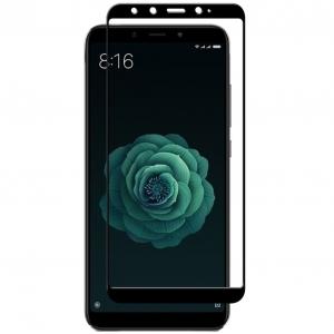 Folie sticla securizata Full Glue pentru Xiaomi Mi A2, Negru0