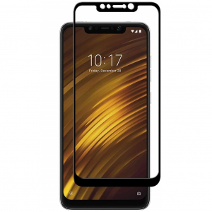 Folie sticla securizata Full Glue pentru Xiaomi Pocophone F1, Negru0