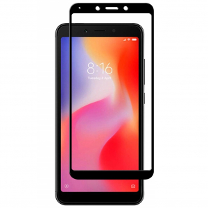 Folie sticla securizata Full Glue pentru Xiaomi Redmi 6, Negru [0]