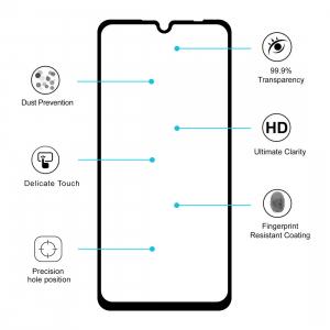 Folie sticla securizata Full Glue pentru Xiaomi Redmi 7, Negru1